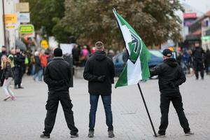 Inte första gången Nordiska motståndsrörelsen manifesterar. Bilden är från Visby.