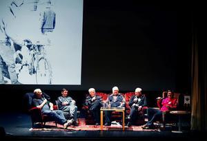Männen som var med från början intervjuades av Tord Lundgren: Från vänster Hasse Hallén, Hasse Tjärnlund, Nils-Ragnar Viström och Åke Persson.