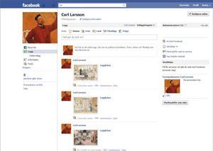LYCKOBESATT. Carl Larsson var mycket mån om att visa upp en lycklig fasad, inte olikt hur det ser ut i statusuppdateringarna på Facebook där det pågår en tävling om vem som har lyckligast liv.
