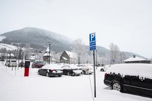 Den utökade parkeringen vid Kyrklägdan stod färdig i slutet av oktober.