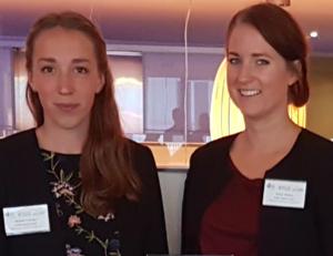 Nathalie Fransson till vänster, Emma Wiesner till höger, tävlar i Sustainergies Cup.