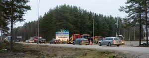 Trafikolyckan vid travbanan orsakade köer i morgontrafiken.
