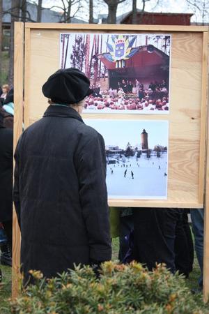 Bilderna på Djupadalsparken så som den såg ut förr intresserade många.