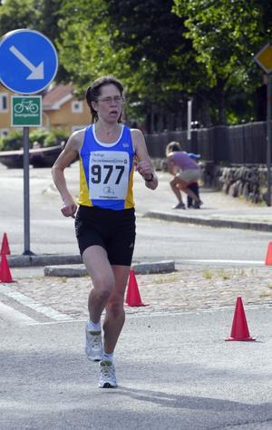 Damvinnare. Charlotte Nilsson, IF Start, var överlägsen i damklassen. Foto:Gunnar Bäcke
