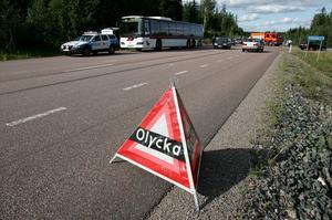 I förhållande till antalet invånare är Dalarna ett av de olyckstätaste länen. Foto: Arkiv