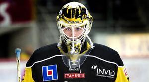 Fokuserad. VIK-målvakten Johan Gustafsson vill bli en vinnare i Mora i kväll.Foto: Rune Jensen