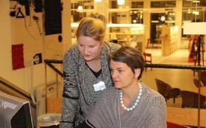 Mathilda Axelsson och Helena von Bergen. Foto: Håkan Eriksson