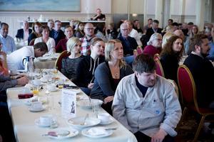 En stor publik hade lockats till företagsfrukosten i Härnösand.
