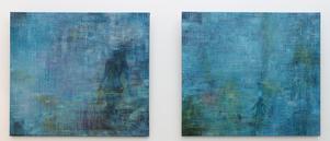 Jonna Jakobssons målningar Kvällsdopp och Vattenlek ingår i utställningen i Stockholm.