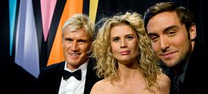 Dolph Lundgren, Christine Meltzer och Måns Zelmerlöw blir programledare för Melodifestivalen 2010.
