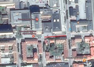 Parkeringsförbudet kommer att gälla på Fältjägargränd mellan Prästgatan och Kyrkgatan fram till och med första veckan i maj.