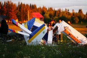 En 30-årig man och en 29-årig kvinna omkom vid olyckan på Optands flygfält 18 juni i fjol.