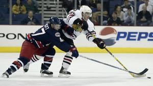 Från Chicago till Frölunda. Jonas Nordquists NHL-äventyr blev inte riktigt vad han hoppats. Men på på tre matcher hann han i alla fall göra två assists. Nu tar han ny sats i guldsatsande Frölunda. Foto:JAYLAPRETE