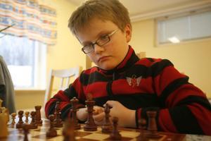 Lukas Åslin är med på juniorsträningarna på måndagarna.