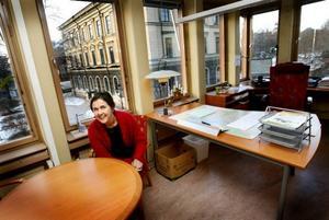 I går flyttade Gävles nya bygg och miljöchef Elisabet Jonsson in på sitt nya tjänsterum i förvaltningshuset.