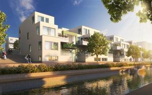 Lägenheten på Gävle strand är redo för inflyttning vintern 2017/2018.