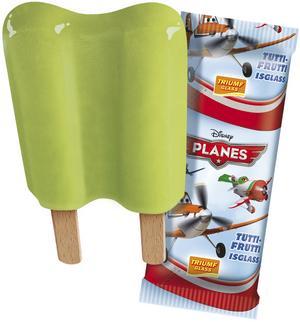"""Planes. Triumfglass. Ispinne med tutti fruttismak. 14 poäng. """"Smakar som Piggelin, fast mer päron."""" """"Väldigt söt."""""""