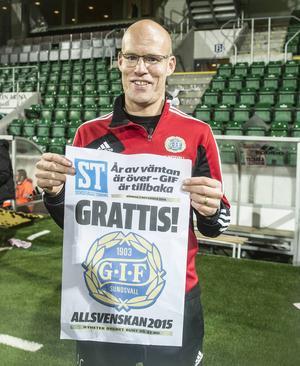 Joel Cedegren, Mora 1992–93 och Brage 94–98, blev huvudtränare tillsammans med Roger Franzén efter degraderingen 2012. Nu är han allsvensk.