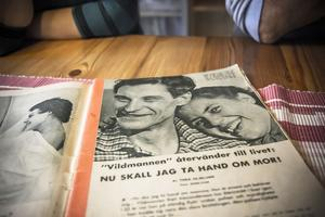 – Vi kände igen honom på en gång i tidningen. Han var sig så lik, trots att han var så många år yngre på bilderna i tidningen vi hittade i Ytterån, berättar Irene Karlsson.