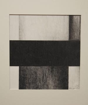 Nils Törnqvist: Komposition med svart, blyerts.