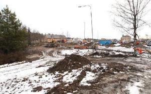 Här ska bussdepån byggas och troligtvis blir Skanska Dalatrafiks nya entreprenörer.Här ska bussdepån byggas och troligtvis blir Skanska Dalatrafiks nya entreprenörer. Foto: Curt Kvicker