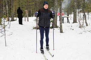 Anders Sannagård tyckte det var ett unikt tillfälle att komma ut i nationalparken på skidor.