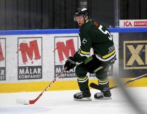 Kalle Johansson under en av sina tre säsonger i Östersunds IK:s A-lag. Foto: Sporten