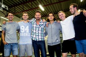 Filip Tronêt, Jonathan Häll, Peter Markstedt, Asmir Suljicic, Mathias Benker och Joakim Häll.