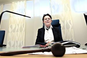 """NÖJD MED SYSTEMET. """"Jag ser inte nämndemännen som politiker,"""" säger lagman Anita Wallin Wiberg vid Gävle tingsrätt."""