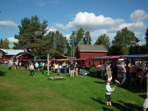 Höstmarknaden i Ramsele ordnas på hembygdsgården varje september sedan tio år tillbaka.