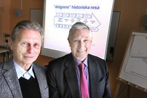 Lars Larsson och Ove Anonsen presenterade upplägget för fonden. Den vänder sig till företag både i Gästrikland och i Hälsingland.