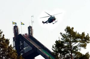 Show. Armens Vingar bjöd på helikoptershow både på lördagen och söndagen.