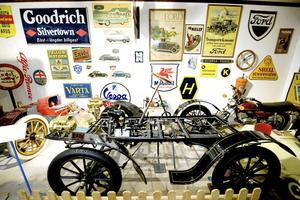 Motormuseet i Torsång var ytterligare en museal anhalt den hemliga resan stannade vid.