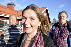 Böle byskola är den enda av de nedlagda kommunala skolorna i Östersund som har blivit friskola. I år firade de tio år. Fr v: Janne Johansson, Eva-Märet Nordenberg och Sven Nilsson.