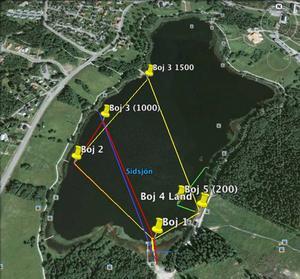 Så simmas de fyra olika loppen i Sidsjön.