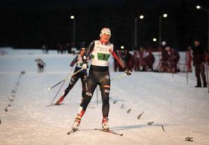 Ida Ingemarsdotter spurtar hem SM-tecknet i Team Sprint före Sollefteås Marika Sundin.