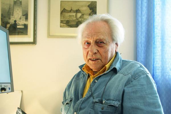 Kalle Lundquist, Norberg, kan mycket om Ferdinand Boberg. Foto: Lina Svalbro