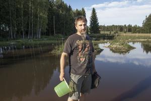 Tomas Frisks dammar har anlagts på tidigare åkermark i Ismyra.