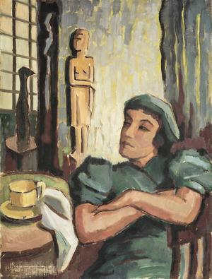 Uppsala konstmuseum har blivit av med ett antal verk av konstnären Agnes Cleve. Polisen utreder nu när och vart konstverken kan ha försvunnit. Verket på bilden: Utan titel, 1945.