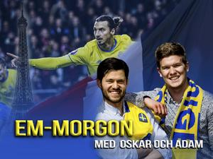 Oskar Lund och Adam Johansson kommer varje morgon under Sveriges EM-resa sända live för att ge er läsare en unik inblick i hur det är att vara på plats i Frankrike.