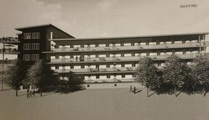 För fult för Gävle Strand? Illustration över huset som BFF2 Stuveritomten AB vill bygga på Gävle Strand.
