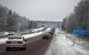 Här är vägen mellan Valbo Köpcentrum och Forsbacka där flest  viltolyckor sker i Gästrikland.