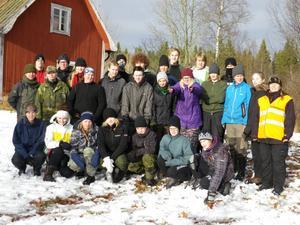 Deltagarna på årets Camp Lost - läger kom från olika orter i hela landet. Lägret hölls i Hässlen, Garpenberg  där Civilförsvarsförbundet Dalarna hyrt in sig i scoutstugan.