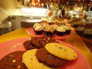 Cup cakes  och kakor på Mocca Coffee Lounge.