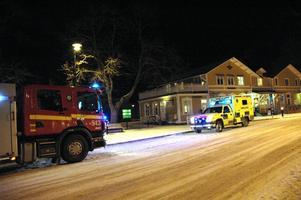 Räddningstjänsten ryckte ut sedan en person blivit påkörd av ett tåg vid Tierps station.