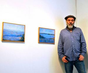 Blåmålaren Anders Ek visar upp nya sidor på Galleri S.