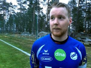 Färilas lagkapten Jonas Karlsson var inte helt nöjd efter lagets torförlust mot Stugsund.