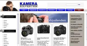 Så här ser kameraexpertens erbjudande ut på webben.