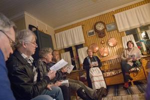 Alla deltagare fick ett häfte fyllt av klassiska visor och sånger.