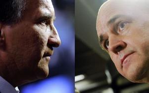 I förrgår drabbade Löfven och Reinfeldt samman i Aktuellt. Foto: Erik Mårtensson / SCANPIX